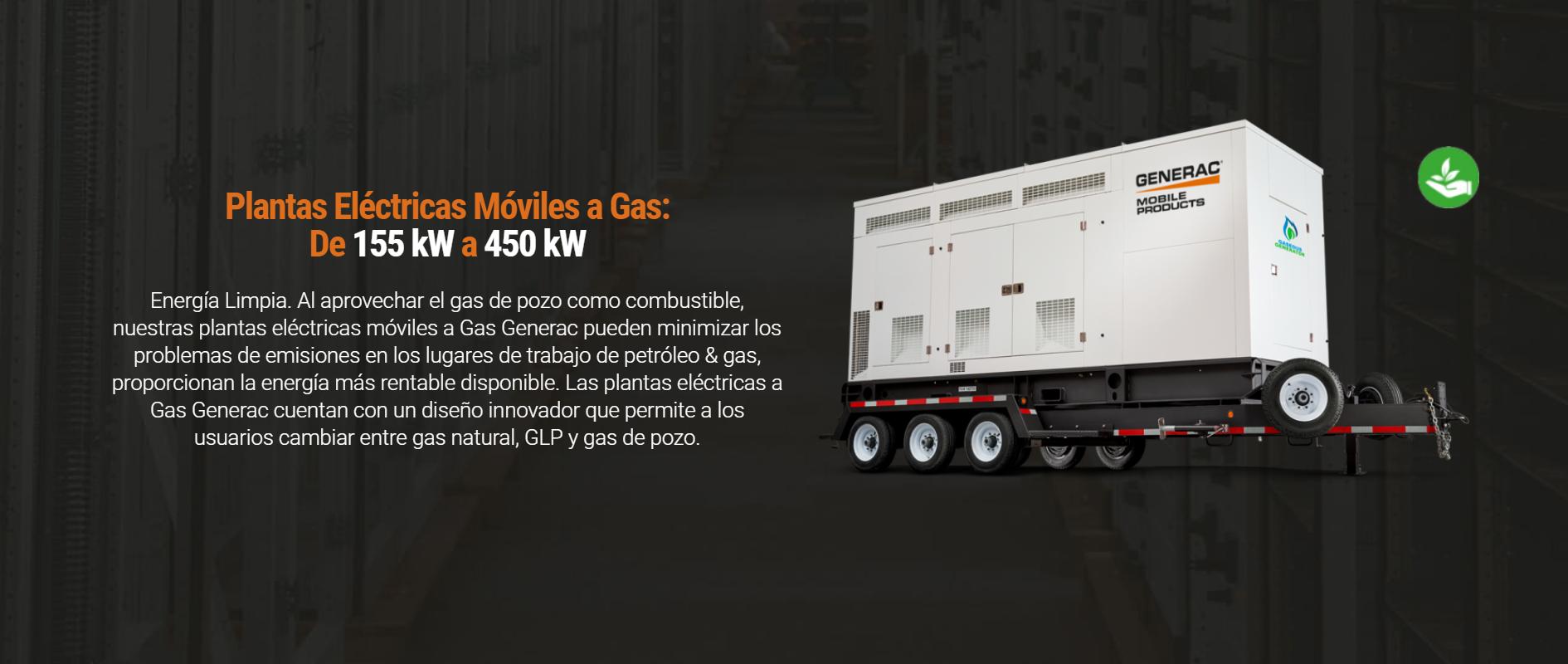 Plantas Eléctricas Móviles a Gas De 155 kW a 450 kW